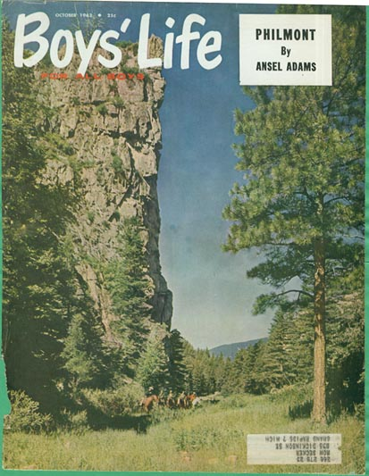 boys life magazine october 1962 featuring philmont by ansel adams on cover