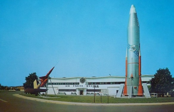 us-air-force-museum-outdoor-rockets-postcard